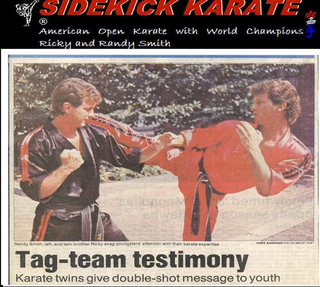sidekickkarate.com  tag team testimony randy ricky gdt