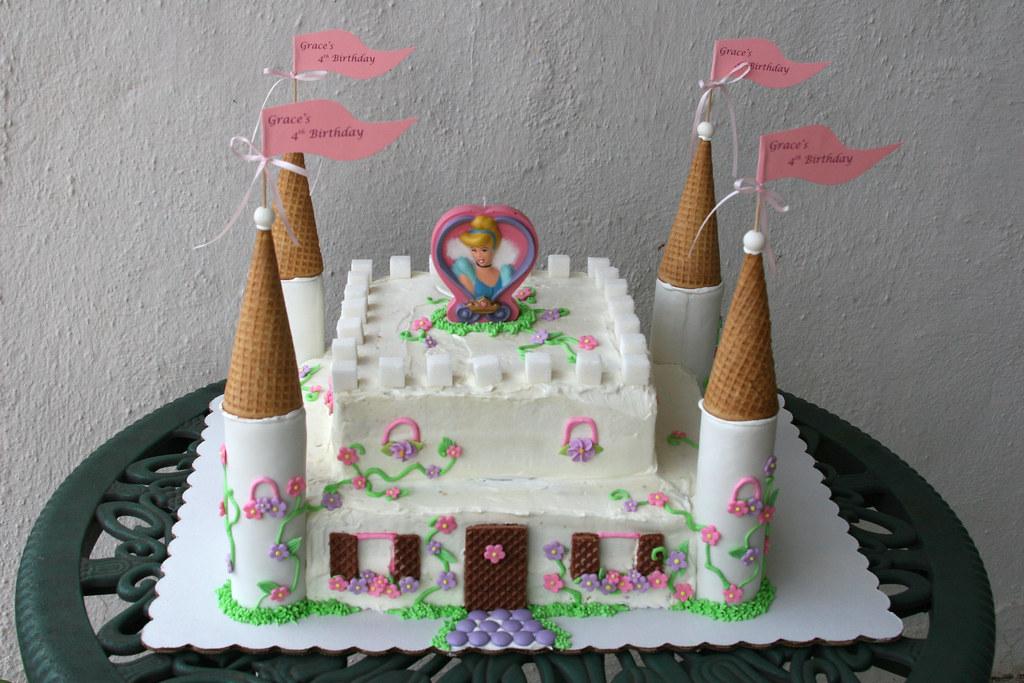 Pleasant Cinderella Castle Cake Cinderella Castle Cake For My 4 Yea Flickr Funny Birthday Cards Online Fluifree Goldxyz