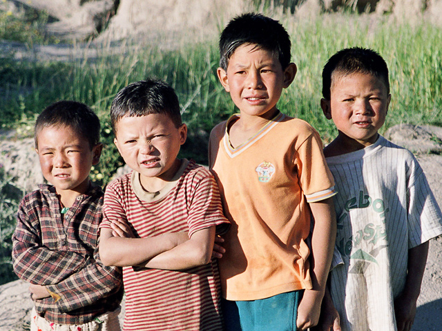 Ladakhi kids near Tikse