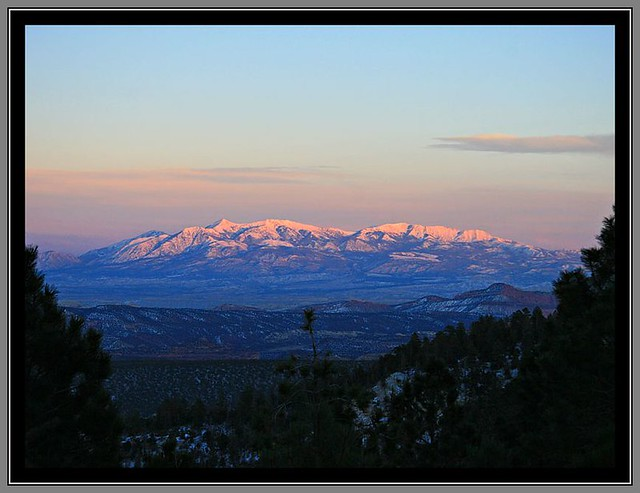 Evening Light on the Henry Mountains