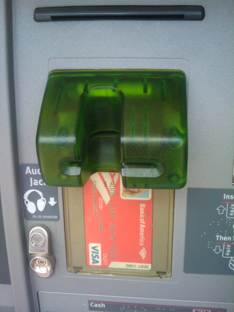 Is this an ATM skimmer? | nick v | Flickr