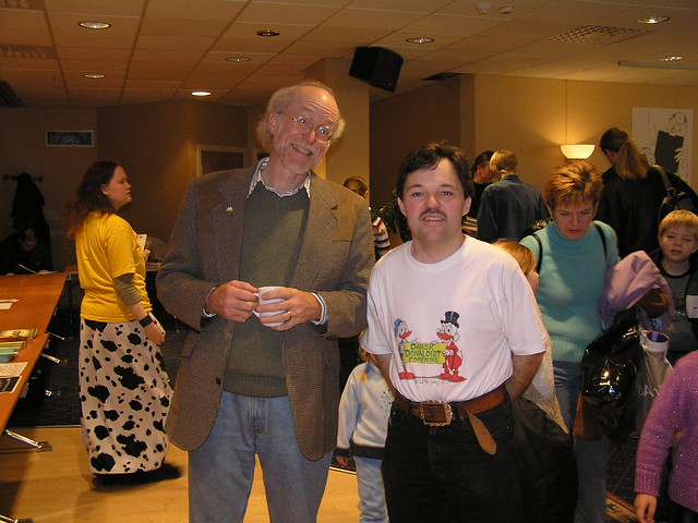Don Rosa and Sigvald in Bergen 2004