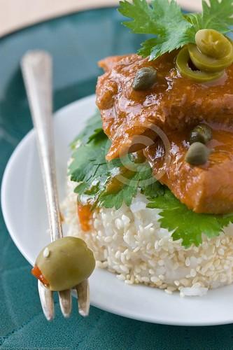 Lengua de res en salsa de alcaparras (Beef Tongue in Caper Sauce) | by nikaboyce