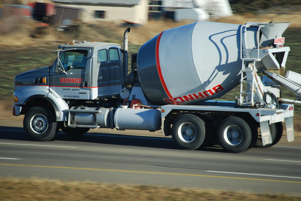 Burnco   A picture of a Burnco concrete truck, something you