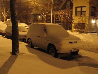 Snowy car   by Rick Aiello