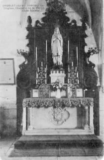 Intérieur de l'église d'Orgelet : la chapelle de la Vierge