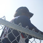 Dmitri Young at the batting cages