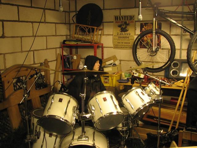 Pete on Drums