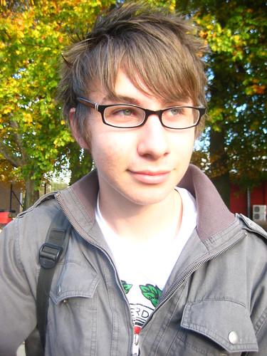 Pov blowjob facial emo nerd geek glasses