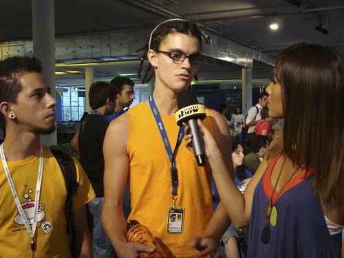Marco Gomes sendo entrevistado por Daniele Suzuki | by Marco Gomes