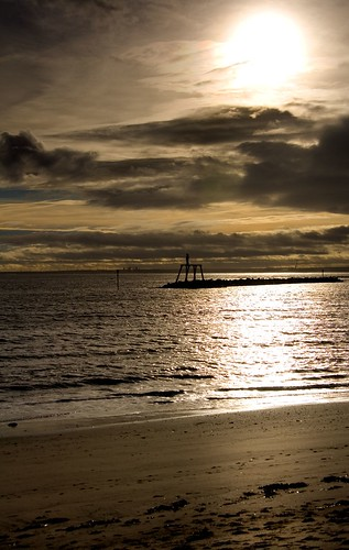 """Newbiggin by the sea """"Winter Sun""""   by mcaretaker"""