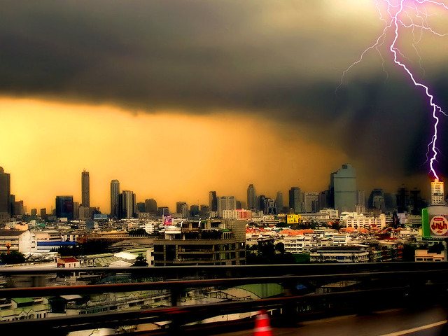 Thunder and Lightning above Bangkok