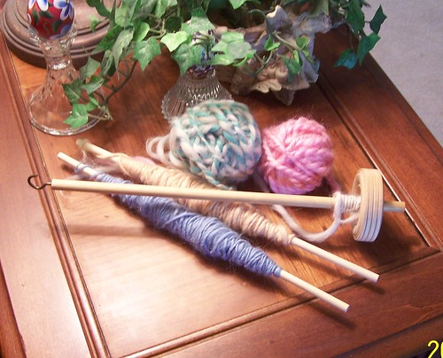 First Balls of Spindle Spun Yarn | by Linda S.