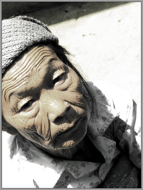 An old lady from Ravangla