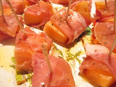 Melon wrapped in prosciutto | by patrickwoodward
