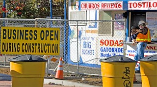 Business open during construction