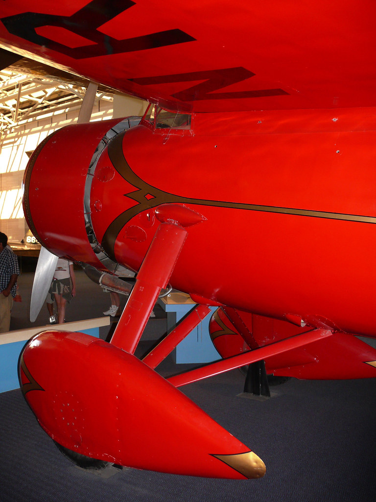 Amelia Earhart's Lockheed Vega 5b up close.