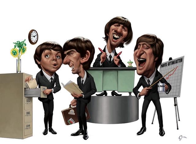 Beatles-Caricature