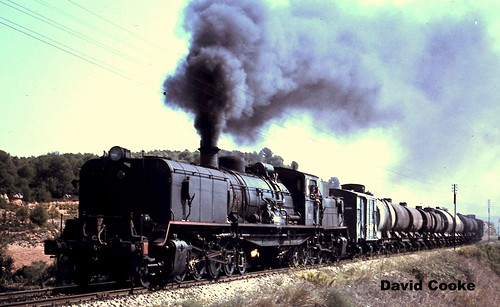 S1676 RENFE 2-8-2+2-8-2 Garratt Nr. Picamoixons, Spain 1968
