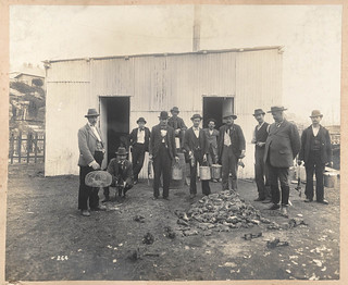Professional Ratcatchers from Views taken during Cleansing Operations, Quarantine Area, Sydney, 1900, Vol. IV / under the supervision of Mr George McCredie, F.I.A., N.S.W. photographed by John Degotardi Jr.   by State Library of New South Wales collection