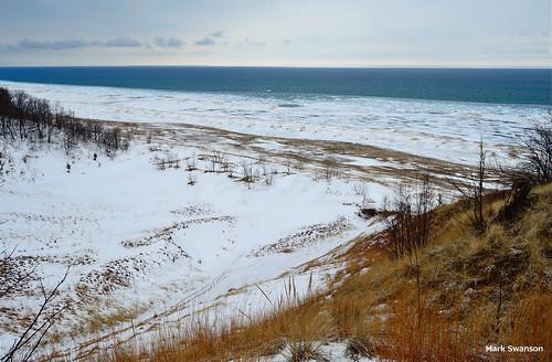 park winter sky lake snow seascape color ice beach nature clouds landscape sand nikon exposure waves michigan dunes lakemichigan lakeshore polarizer circular d5100