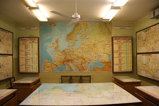 URSS nuclear bunker in Latvia - The map room