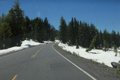 landscape craterlake winterlandscape
