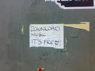 """download music, it's free!"" 