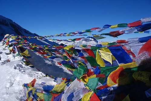 Prayer flags at Thorong-La (5416 m.) | by magical-world