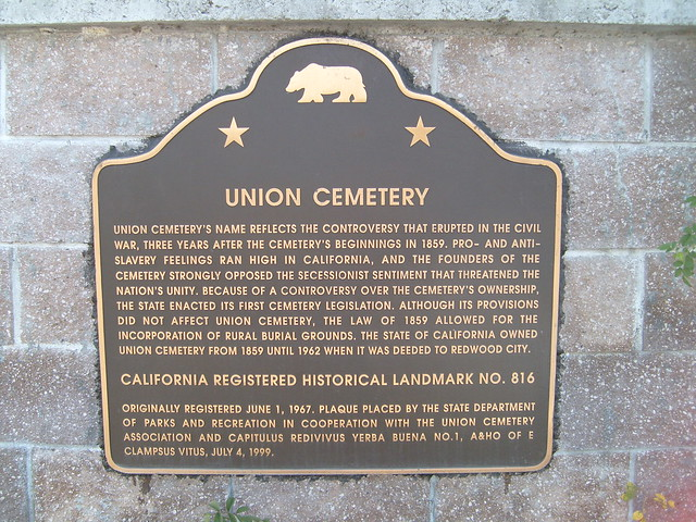 Union Cemetery - Registered Historical Landmark