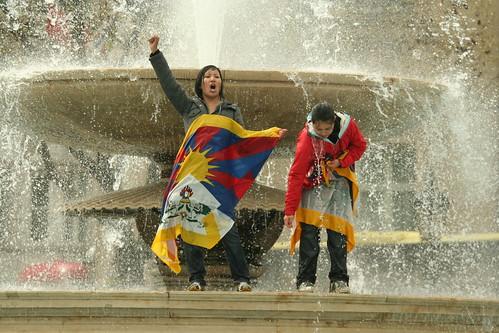 Olympic torch rally, London: Free Tibet Protest | by Kaustav Bhattacharya