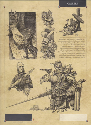 """Cry Havoc Page 1 - A selection of the many drawings produced for Rackham Miniatures. Shown here in their magazine """"Cry Havoc"""", the brief called for dark, gritty characters shown in great detail.   by widdershins3"""