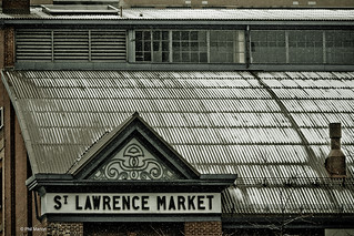 snow falls on St. Lawrence Market | by Phil Marion