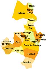 Concelho De Alcobaca Portugal Mapa Das Freguesias Jorge