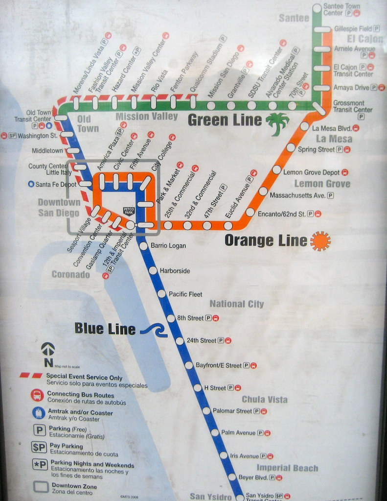 San Diego Trolley Map (5/11) | The San Diego Trolley map, ci… | Flickr