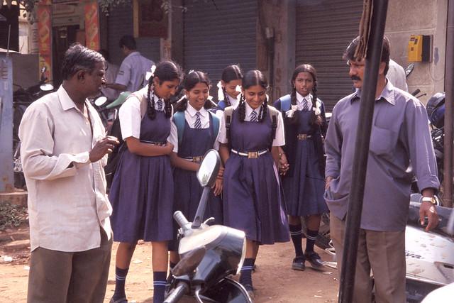 School Girls In Bangalore By Jim Royal