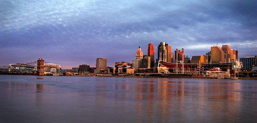 skyline flood cincinnati hdr ohioriver 3xp foursquare:venue=2212214