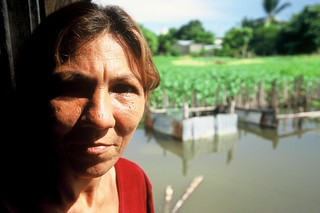 Woman in flooding area. Colombia   by World Bank Photo Collection