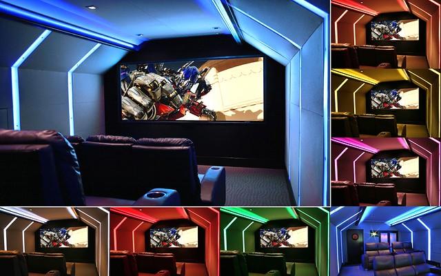 Home Theater Multi-Color Collage