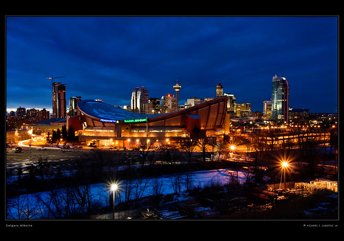 canada calgary skyline canon cityscape lightroom calgaryskyline 50d ef1740mmf4l ramsaypark canonrebelxti400d colorphotoaward michaellogatoc adobelightroomlr sunset1644