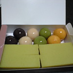 舟和の芋羊羹と餡団子(Funawa Sweet Bean Jelly & Bean Jam Dumpling)