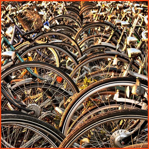 waves of bicycles | by Frizztext