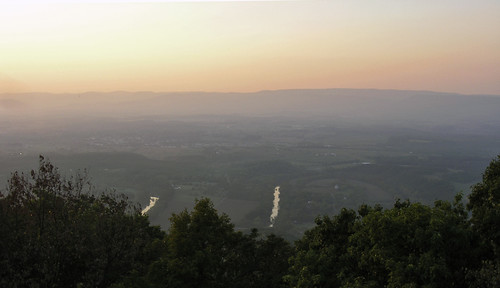 sunset panorama mountain river virginia landscapes shenandoah woodstock shenandoahvalley woodstocktowerview