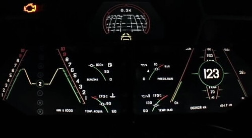 Top Gear S10e03 Reventon Dash Display This Is The Ai Flickr