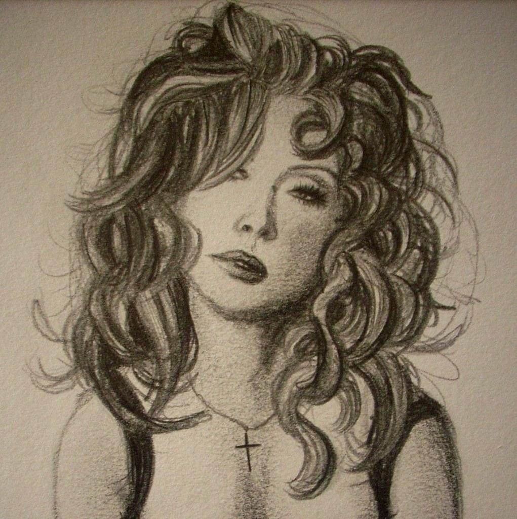 Mulher Olha Triste Mariana Nogueira Desenhos Flickr