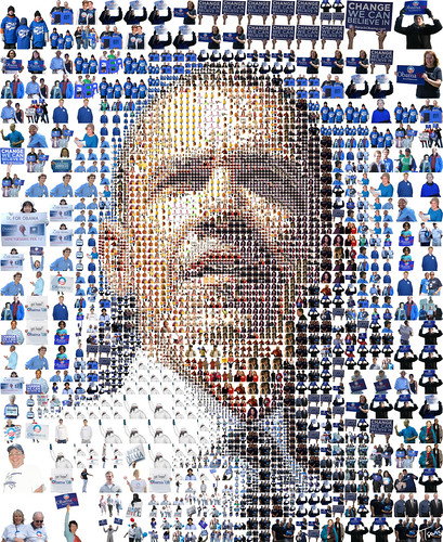 Barack Obama: A mosaic of people | by tsevis