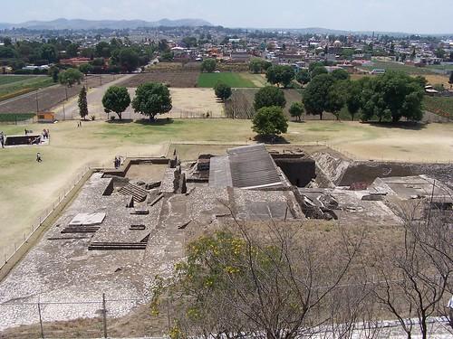 Zona arqueológica en la pirámide de Cholula
