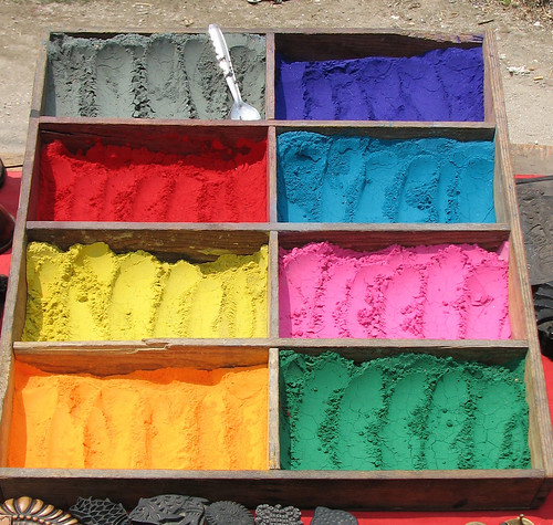 Nepal - Kathmandu - 014 - Coloured chalk for sale | by mckaysavage
