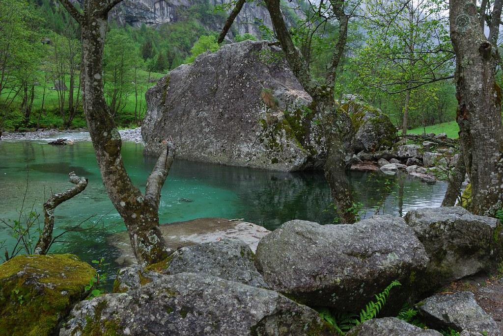 Val di Mello   Small lake in Val di Mello, the little ...