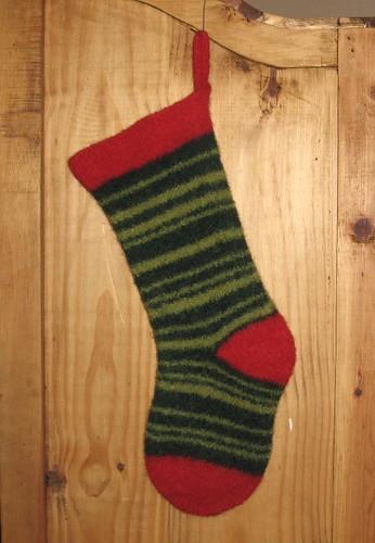 Ella's Felted Christmas Stocking | by happybuelaknits